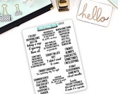Sarcastic, Funny Quote Planner Stickers for a Variety of Planners, Motivational Quote Stickers, Inspirational Quotes - QS02