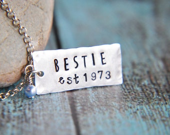 Best Friend Necklace - Bestie Necklace - BFF Necklace - Gift for Sister - Friendship Gift - Gift for Best Friend - Established Necklace