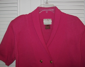 Susan Bristol Raspberry Sweater, Short and Sweet, Size Large, Petite see details