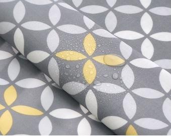 Laminated Cotton Fabric Clover Gray