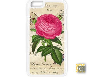 Galaxy S8 Case, S8 Plus Case, Galaxy S7 Case, Galaxy S7 Edge Case, Galaxy Note 5 Case, Galaxy S6 Case - Vintage Fuschia Rose