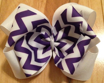 White and Purple Bow