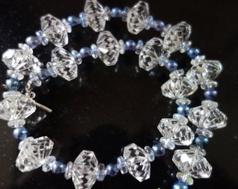 Antique Crystal Bead Necklace