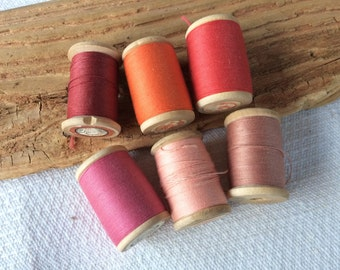 Thick cotton thread wooden reel, soviet vintage sewing thread spool, USSR sewing collectibles