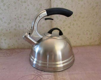Vintage Professional Quality Calidad Whistling Tea Kettle Stainless Steel 843915