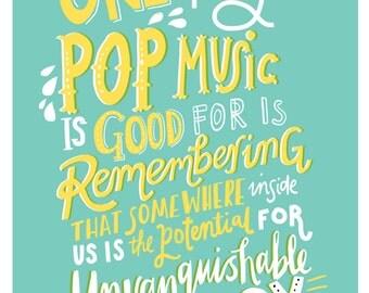 John Darnielle Pop Music - A5, A4 or A3