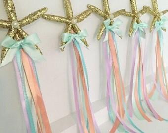 Starfish wands, mermaid wands, starfish party wands, starfish wand favors