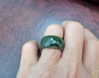 Size 7 Nephrite jade band ring. S466