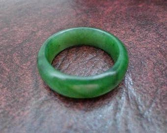 Size 12  Nephrite jade band ring. S467