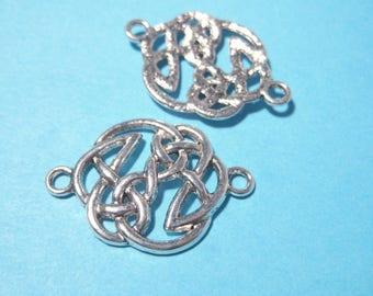 6pcs Antique Silver Links Connectors 28mm Filigree Links