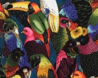 Fabric - Alexander Henry - Birds of a Feather - cotton print.