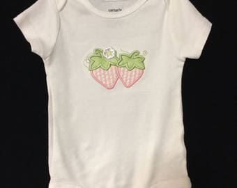 Strawberry baby onesie, strawberry shirt, Berries shirt, strawberries onesie, Strawberry outfit