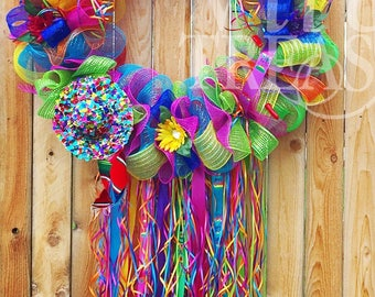 XXXL Jumbo Fiesta Wreath, Extra Large Fiesta Wreath, Local Pick Up Only