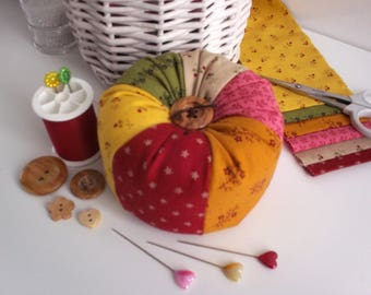 pincushion,patchwork pincushion,pincushions,patchwork pincushions,novelty pincushion,large pincushion,pin cushion,patchwork,deep pincushion,