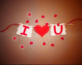 Love bunting banner, Valentines day decor, Je t'aime, Wedding, Engagement decor