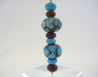Large hole bead set. Lampwork Glass beads will fit the beadhopper interchangeable pendant range and the Add a bead range.