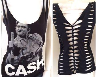 Johnny Cash Finger Weave Top