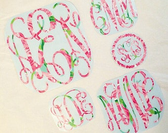 Lilly Pulitzer Monogram Or Greek Letter Decal