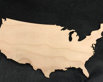 Laser Cut Wall Art - Map of the United States