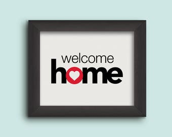 8x10 Welcome Home Sign, Print, Adoption Gifts, Adoption Announcement, Adoption Day, Adoption Art