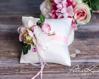 Ring pillow wedding pillow wedding rings ivory Racherla wedding decoration AK8