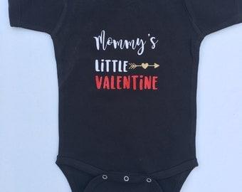 Custom Valentine's Day onesie-Valentines- mommy's little valentine