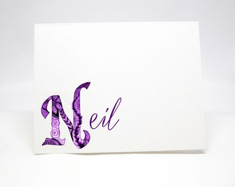 Classy Note Cards, Personalized Note Cards, Personal Note Card Set, Personal Stationery, Folded Notes, Personalized Stationery, Notecards