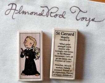 St Gerard Patron Saint Block