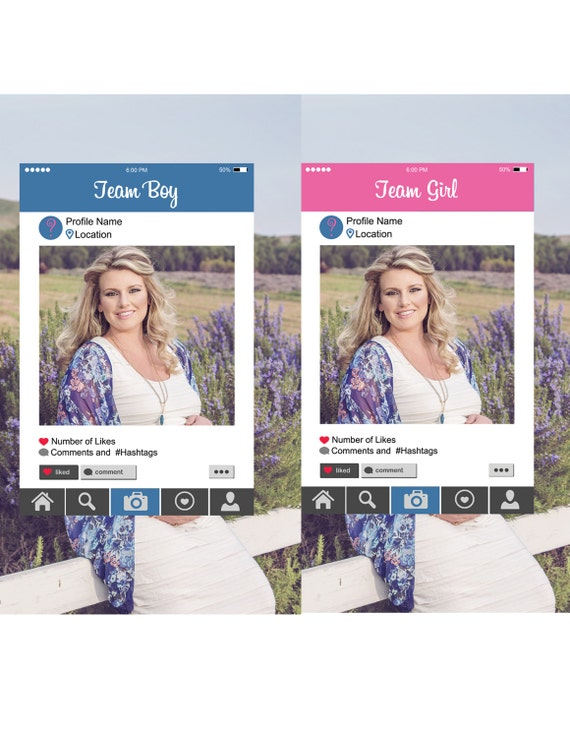 instagram photo booth frames digital file   gender
