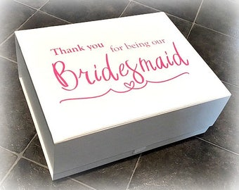 Bridesmaid Gift Box | Thank You For Being Our Bridesmaid | Bridesmaid Keepsake Box | Wedding Box | Maid Of Honour Box | Flower Girl Box