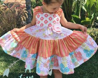 Glitz Garden Ruffled Twirl Dress