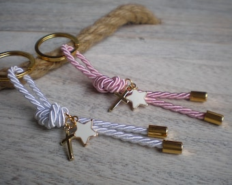 Elegant martyrika-star martyrika -Key chains Baptism Favors- Gold and pink martyrika-formal style martirika