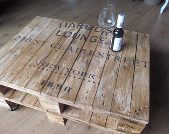 "Range table ""HARBOR"" double industrial pallet pallet furniture *."