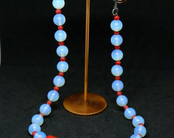 Blue Moonstone necklace from Thailand.