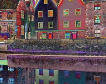 Norwich Quayside in Colour - A4 Photo print