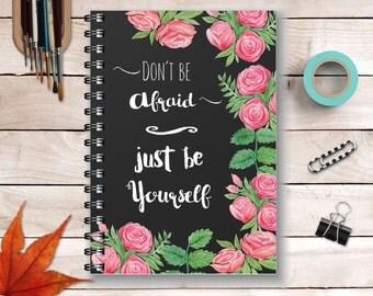 Motivational Journal - Inspirational Notebook Motivational Quotes - Spiral Notebook Diary
