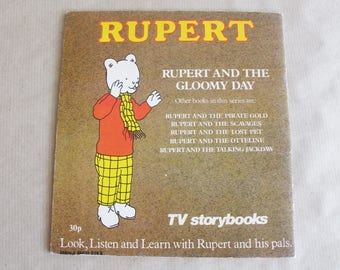 Vintage Rupert book - Rupert and the Gloomy Day 1976.