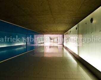 Montreal Underground Photo City Tunnels Fine Art Photography Modern Architecture Minimalist Scenery Modern Decor Wall Art