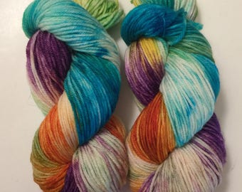 Hand Dyed Yarn worsted weight | 100% superwash merino wool | 100 gr | Annie's Song | super soft