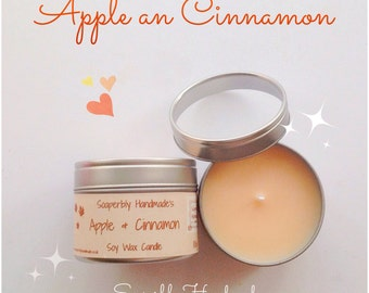 Apple and Cinnamon candle, Tin candles, Soy candles, Room fragrance, Apple and Cinnamon scent, Cinnamon candles, Apple scented candles