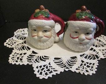 Santa Claus Head Salt & Pepper Shakers