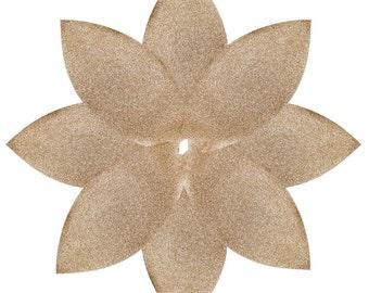 gold christmas tree skirt puansetiya flower design modern christmas tree skirt - Gold Christmas Tree Skirt