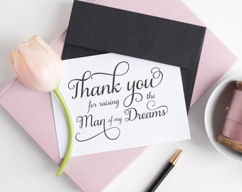 Thank you for raising the man of my dreams card - Wedding card - Wedding day cards - C001-12