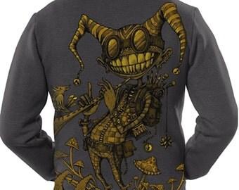 Mens Hoodie Jacket,Psychedelic Hoodie,Burning Man,Dmt,Psy Clothing,Men Festival Hoodie,Printed Hoodie,Mens zip Up sweatshirt Gifts For Him.