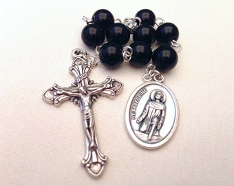 St Peregrine Chaplet, Patron saint of cancer sufferers, Gift for cancer patients, Nine bead chaplet