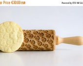 Rolling Pins APPLES Embossing rolling pin, laser engraved rolling pin Birthday gift