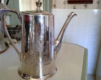 Vintage SILVERPLATE COFFEE SERVICE, Silver Coffee Service, Triple Plate Silver Coffee Service, Silver Coffee Pot, Silver Creamer, Sugar Bowl