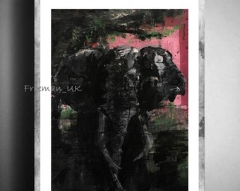 The Elephant,  Fine art Giclee print