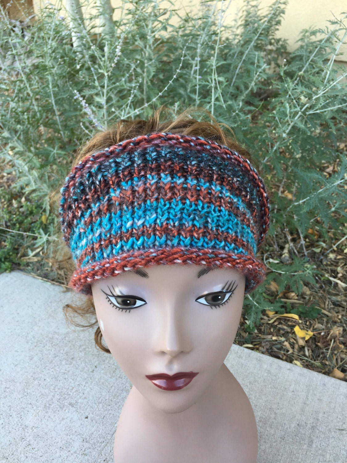 Hippie Headband Knitting Pattern : Boho Headband - a loom knit pattern