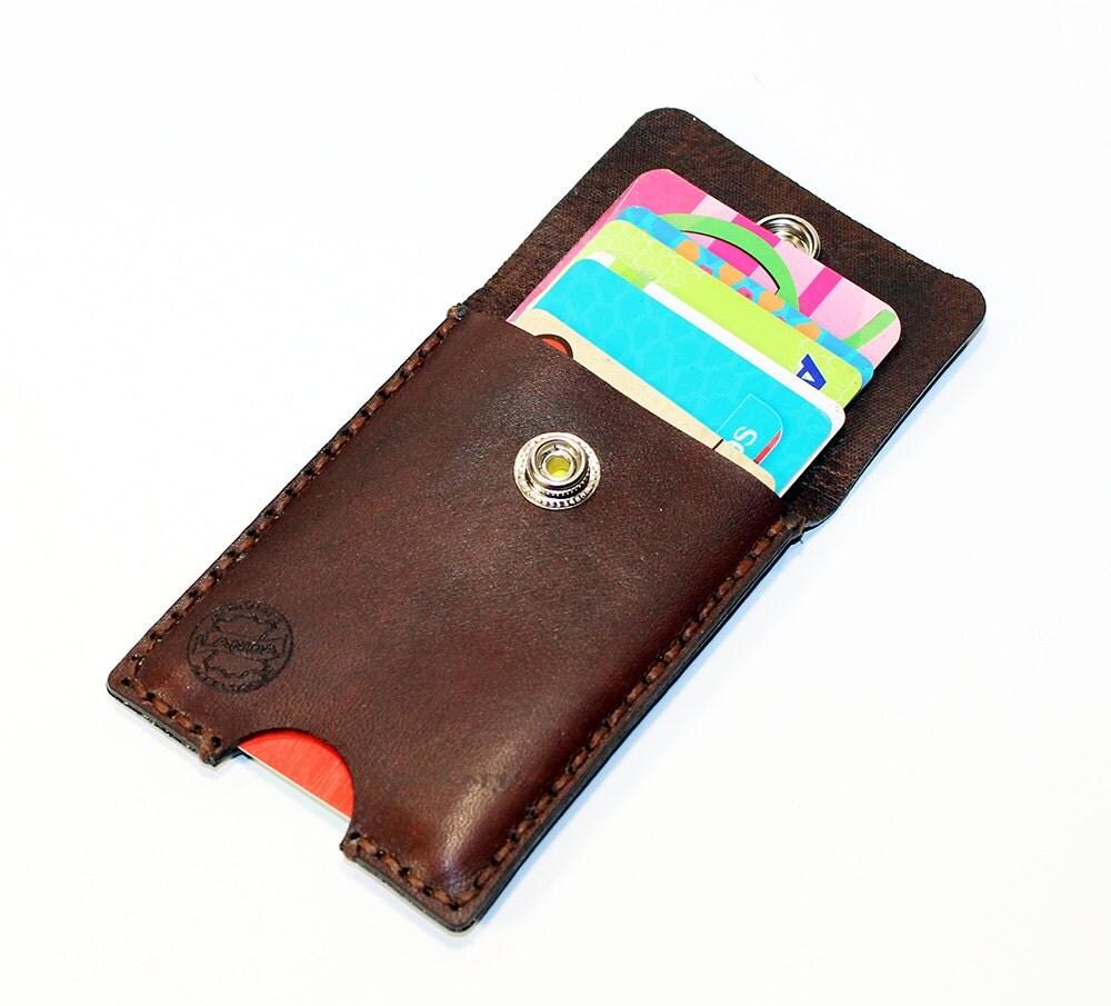 Credit Card Holder leather , Business Card Holder, Brown Leather ...